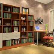 中式简约风格书房飘窗装饰
