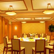 东南亚风格饭店包厢桌椅装饰