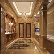 欧式别墅奢华进门玄关装饰
