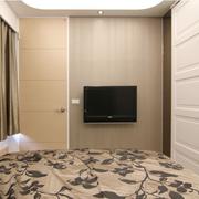 现代简约风格卧室电视背景墙装饰