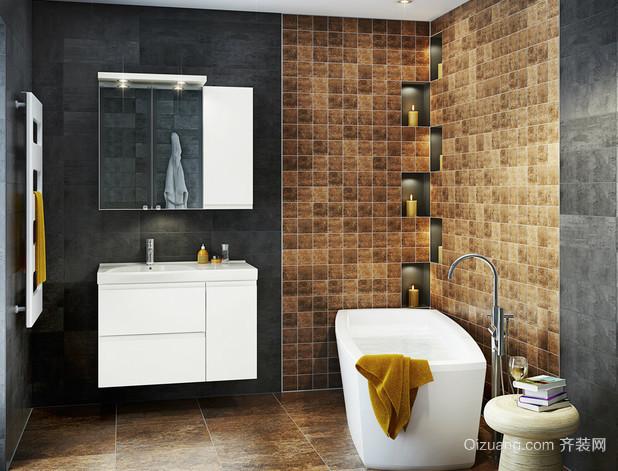 2015都市新颖不锈钢浴室柜卫生间装修效果图