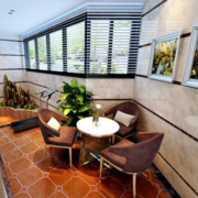 阳台休闲餐桌椅