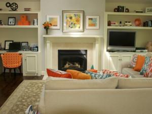 2015都市小户型客厅装饰画装修效果图