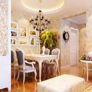 欧式风格奢华餐厅圆形吊顶装饰