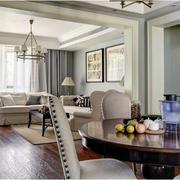 客厅美式窗帘设计