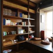 沉稳型书柜装修设计