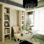 冷色调书房装修图片