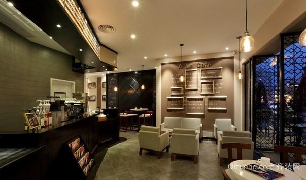 50平米现代简约风格小咖啡店装修效果图