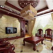 婚房客厅中式装潢
