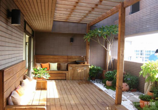 大户型阳台花园装修效果图