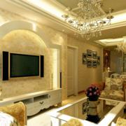 华丽的客厅背景墙
