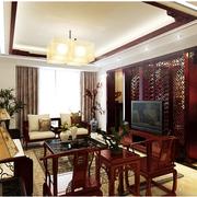 中式客厅简约吊顶
