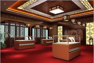 大户型现代大厅珠宝展柜设计装修效果图