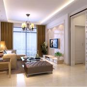自然风格客厅飘窗设计