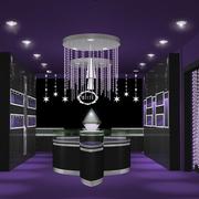紫色调珠宝展柜大全