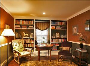 田园风格书柜设计图片