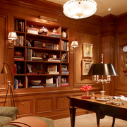 木质美式书柜图片