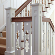 楼梯白色罗马柱欣赏