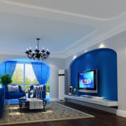 精致型客厅电视背景墙