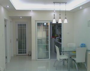 90平米时尚欧式厨房推拉门装修效果图