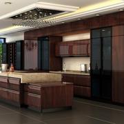 别墅开放式厨房橱柜