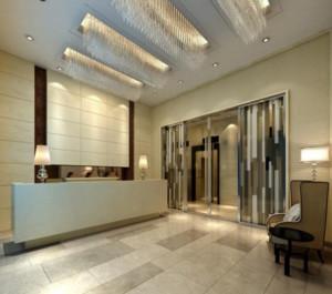 现代简约风格酒店前台装修效果图