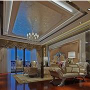 简欧式的大户型客厅