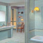 浅色调的家居卫生间
