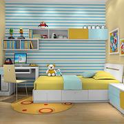 淡色调儿童房效果图