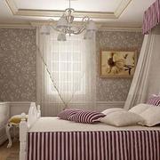 灰色调卧室壁纸装修