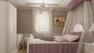 简单清新卧室壁纸装修效果图