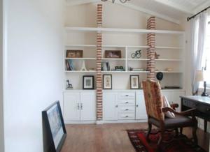 现代阁楼小书房装修效果图