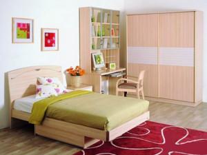 6平米卧室纯天然实木衣柜装修效果图