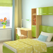 清新型小卧室效果图