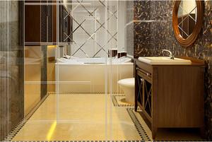 中式小户型浴室装修效果图