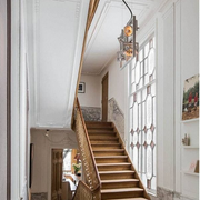 欧式别墅实木楼梯