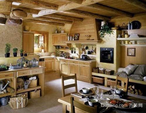 30平米别墅法式开放式厨房