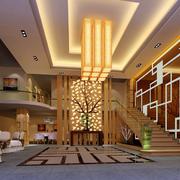 大户型餐馆吊顶设计
