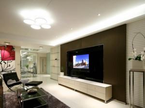简欧风格客厅电视墙装修效果图