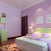 粉紫色儿童房欣赏