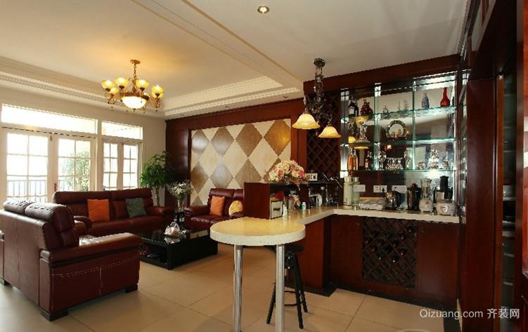 精致古典的家庭吧台设计装修效果图鉴赏
