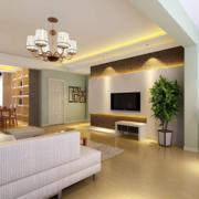 现代客厅空间装潢展示