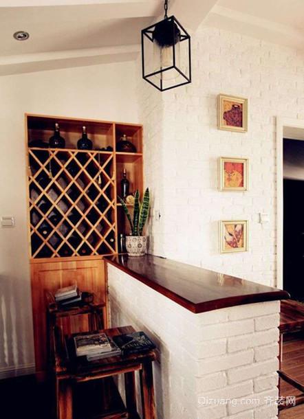 110平米欧式风格家庭吧台设计装修效果图鉴赏