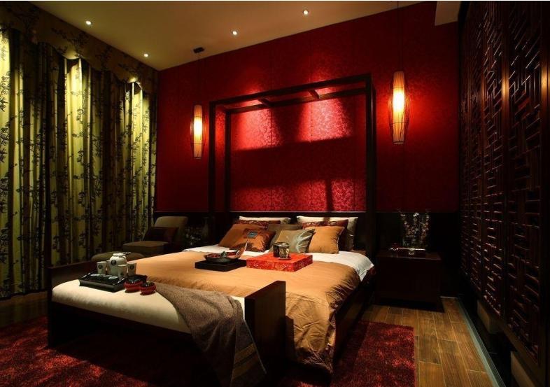 中式婚房布置 图片装修 效果图 齐装网装修 效果图高清图片
