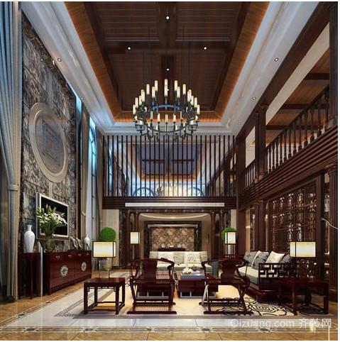 中式别墅楼梯装修效果图