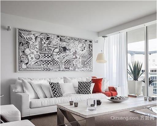 北欧小户型客厅背景墙效果图