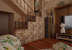 复古尊贵的家居楼梯