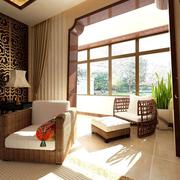现代新中式家居露台