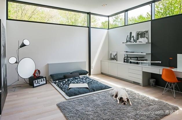 90平米韩式卧室榻榻米床装修效果图