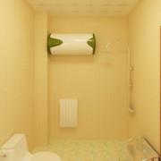 暖色调卫生间效果图